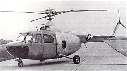 The first XR-12-BE after roll-out. The Model 48 had a shorter rotor mast than the Model 42