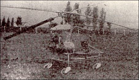 Karel Horak's helicopter