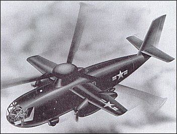 An artist's rendering showing the XHRH-1 as it would have appeared in flight