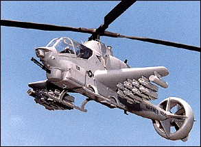 Model of AH-1W(4BW) VTCAD with PiAC vectored thrust ducted propeller and lifting wings