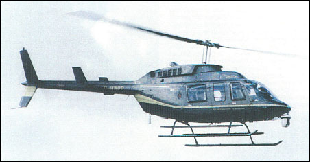 Bell 206L Long Ranger with chin turret for TV camera