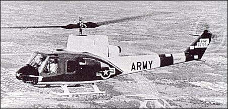The fourth YH-40-BF was converted to become the Bell Model 533 experimental aircraft in order to test various rotor systems